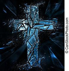 rottura, croce, separatamente