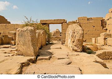 rovine antiche, tempio, karnak, egypt.