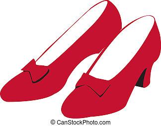 rubino, scarpe, rosso