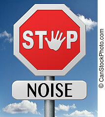 rumore, fermata