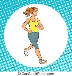 running., ragazza