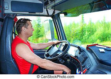 ruota, camionista