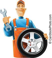 ruota, meccanico automobilistico