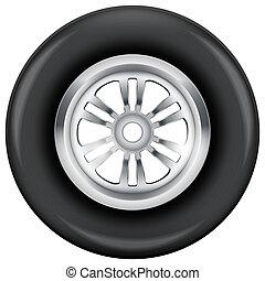 ruota, simbolo, pneumatico