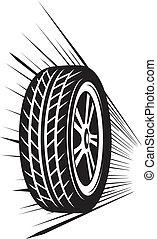 ruota, (vector, tyre)