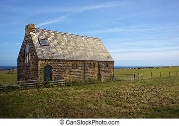 rurale, regolazione, vecchia chiesa