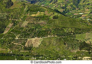 rurale, tungurahua, ecuador, provincia, paesaggio