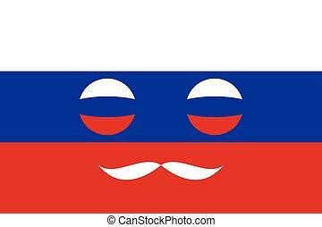 russi flag, colori, icona