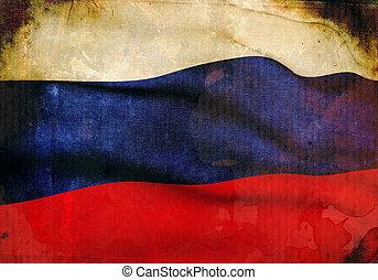 russi flag, grunge