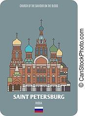 russia, sangue, petersburg, santo, chiesa, salvatore