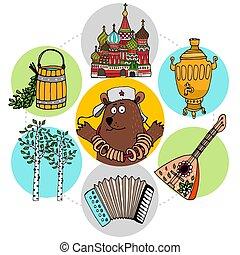 russo, appartamento, concetto, tradizioni