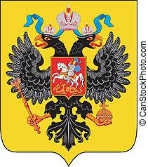 russo, cappotto, impero, braccia