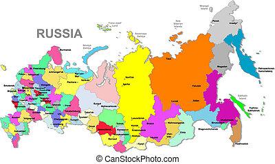 russo, mappa, federazione