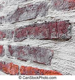 rustico, parete, mattone