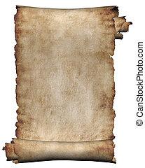 ruvido, manoscritto, rotolo, pergamena