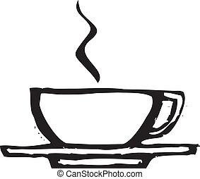 ruvido, tazza caffè