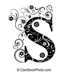 s, lettera, capitale