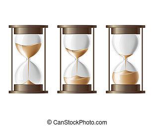 sabbia, cadere, hourglass.