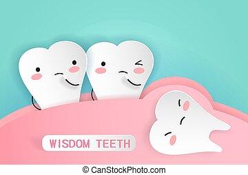 saggezza, concetto, salute, denti