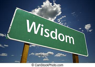 saggezza, segno strada