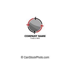 sagoma, disegno, freccia, vettore, cerchio, logotipo