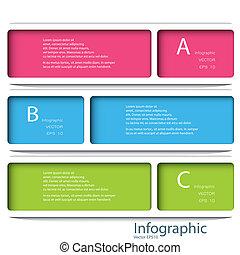 sagoma, eps, numerato, usato, linee, 10, infographics, disegno, /, vettore, sito web, disinserimento, bandiere, orizzontale, grafico, moderno, essere, disposizione, format., o, lattina
