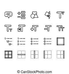 sagoma, linea, presentazione, 2., domanda, set, stile, parte, web, logotipo, disegno, perfetto, domanda, icona