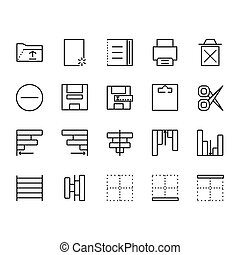 sagoma, linea, presentazione, domanda, set, stile, parte, web, logotipo, disegno, perfetto, 1., domanda, icona