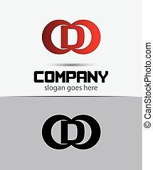 sagoma, logotipo, icona, lettera, disegno, d