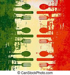 sagoma menu, italiano