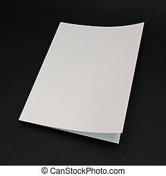 sagoma, pagina, layout., vettore, disegno, vuoto, illustration., 3d