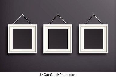 sagoma, set, immagine, vuoto, cornice
