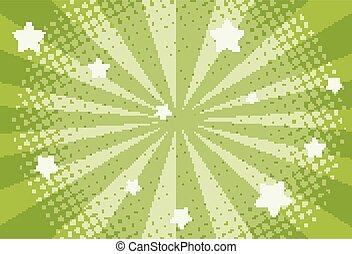 sagoma, sfondo verde, stelle