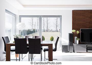 sala da pranzo, moderno, minimalistic