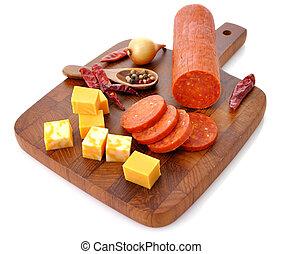 salame, pepperoni, formaggio