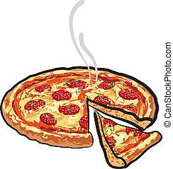 salame, pizza