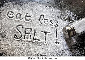 sale, mangiare, meno