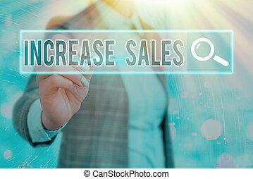 sales., trafficare, parola, prodotto, growth., venduto, scrittura, concetto, aumento, testo, affari, boosting, clienti