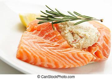 salmone, imbottito