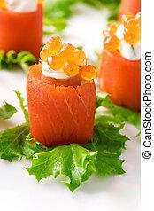 salmone, in crosta
