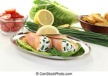 salmone, in crosta, imbottito