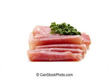 salmone, prosciutto