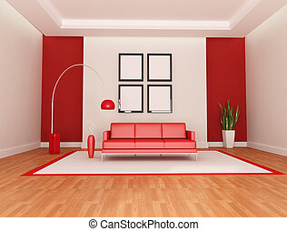 salotto, bianco rosso