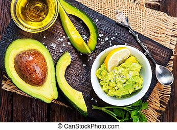 salsa, avocado
