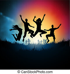 saltare, giovani adulti
