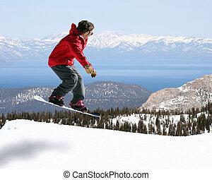 saltare, snowboarder