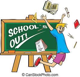 salto, gioia, fuori, -, school`s