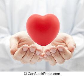 salute, concetto, amore, assicurazione, o
