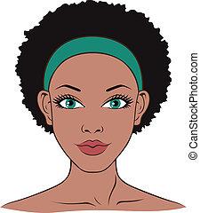 salute, donna, terme bellezza, faccia