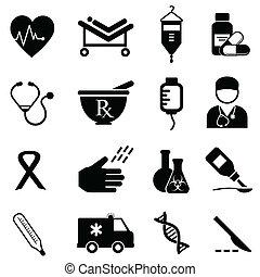 salute medica, icone